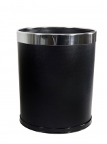 LEATHER BIN BLK K12