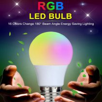 LED MULTICOLOR BULB W/REMOTE
