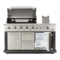 LUCIANO GAS OUTDOOR BBQ KITCHEN W/FRIDGE + COVER