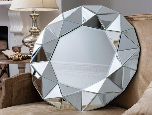 MODERN GLASS MIRROR - 60cm