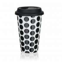 MUG DOUBLE WALL W/SILICONE LID 280ml 60338003BL K24