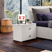 GINGER NIGHTSTAND (set of 2) - GRAPHITE WHITE 30C201B