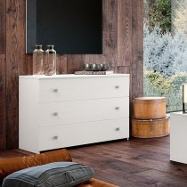 GINGER CHEST OF DRAWERS - GRAPHITE WHITE 30C101B