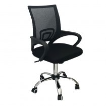OFFICE CHAIR MESH+PU BLACK 58X45X88CM
