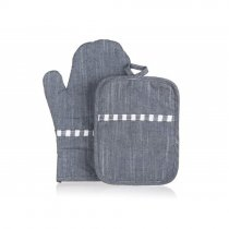 OVEN GLOVE & POT HOLDER DENIM 10005858