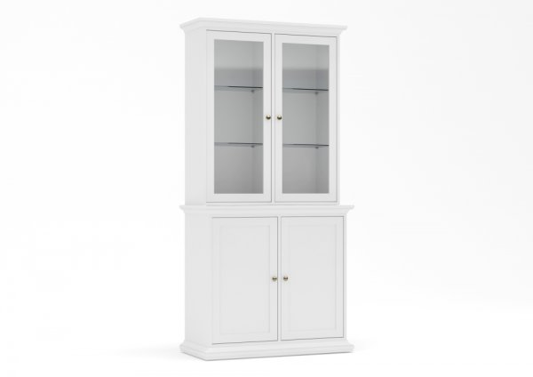 PARIS CHINA CABINET WITH 2 GLASS DOORS