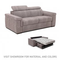 POKER 3 SEATER SOFABED - COFFEE