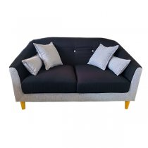 ROBERT SOFA 2 SEATER 2 TONE FABRIC GREY & DARK GREY