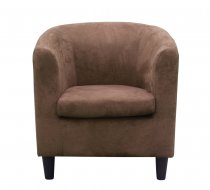 RODEO ARMCHAIR BROWN M/FIBER 69x78x80cm