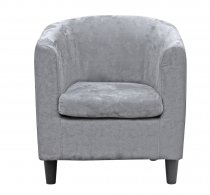 RODEO ARMCHAIR LIGHT GREY MICROFIBER 69x78x80cm