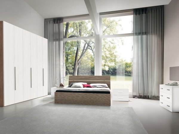 ROYAL BEDROOM COMPOSITION - WHITE GRAPHITE / ECLIPSE ELM