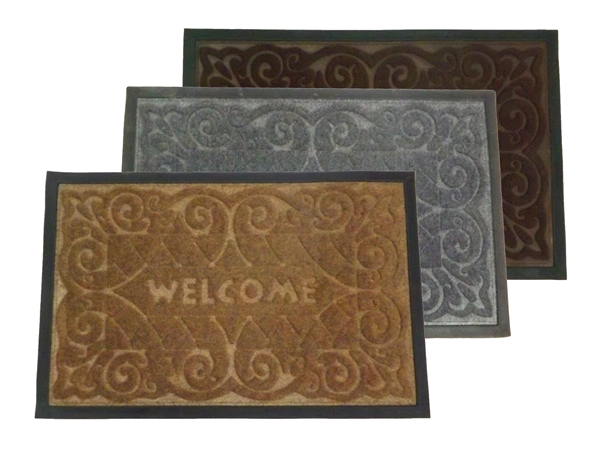 RUBBER DOOR MAT WELCOME K30