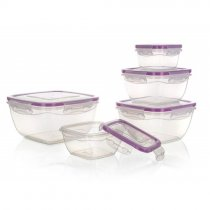 SET OF 5 FOOD CONTAINERS W/CLIPS 55075039