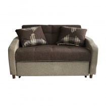 SOFA BED FABRIC BROWN 143X95CM