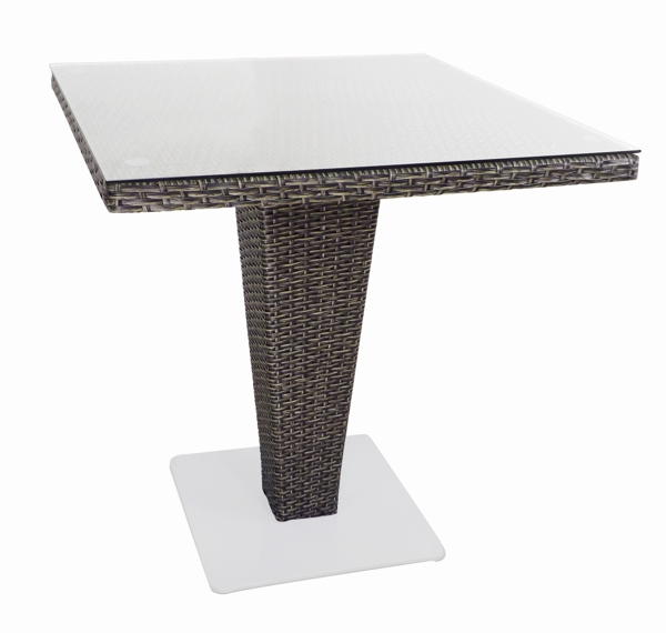 SQ TABLE 70x70cm BLACK/GREY