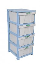 STAR CLASSIC STORAGE DRAWERS BLUE/GREY/ANTH/PINK