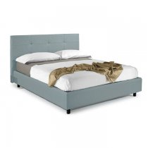 NAPOLI STORAGE BED 160 x 190 cm - 803 GREY ECO LEATHER