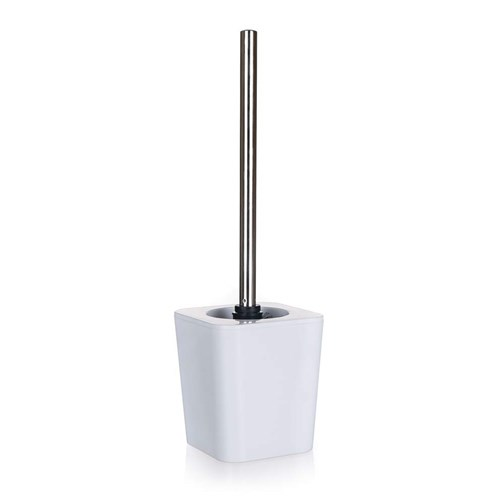 TOILET BRUSH & HOLDER SQ WHITE