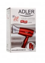 TRAVEL HAIR DRYER RED 1400W K12