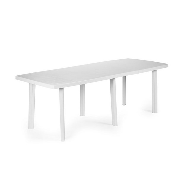 TRIO WHITE TABLE W/EXT. CM.216x90x72 cm