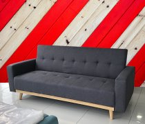 ULLIG SOFA BED DARK GREY 188x78x87cm SOHJ0025