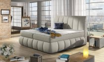 VINCENCO STORAGE DOUBLE BED 160x200cm CREAM