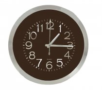 WALL CLOCK ALL COFFEE WOOD GRAIN 35X35X4CM