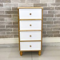 WOOD CABINET 4 DRAWERS 36X29X77CM
