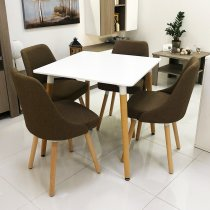 WOOD TABLE W/4 CHAIRS 80X73.5CM