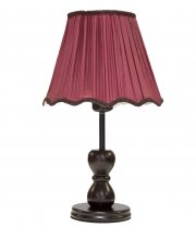 sr WOODEN LAMPSHADE ROUND MAROON
